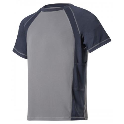 Snickers 2501 AVS T-Shirt Wicking Grey-Navy Shirt