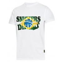 Snickers 2502 T-Shirt EXCLUSIVE Brazil Flag Design