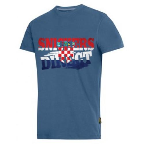Snickers 2502 T-Shirt EXCLUSIVE Croatia Flag Design