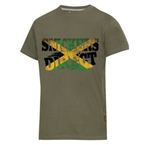 Snickers 2502 T-Shirt EXCLUSIVE Jamaica Flag Design