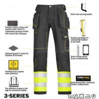 Snickers Workwear 3235 Hi Vis Class 1 Holster Trousers