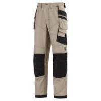 Snickers 3244 XTR 3rd Generation Craftsman Work Trousers Khaki/Black