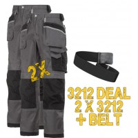 2 x Snickers 3212 3-Series Trousers, 3212 x 2 Plus A Belt