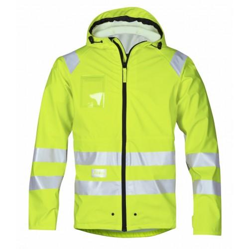 Snickers Workwear 8233 High-Vis PU Rain Jacket Class 3