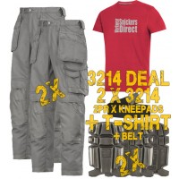 Snickers 2 x 3211 Kit Inc Snickers Direct TShirt, 2 x 9111 Kneepads A PTD Belt