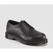 Dr Martens Ludlow St (6733) Black Steel Toe Cap Brogue Shoes 15670001
