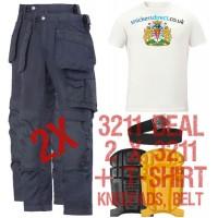 Snickers 2 x Holster Trousers 3211, TShirt, Kneepads & PTD Belt Kit