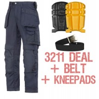 Snickers 3211 Kit Inc 9110 Kneepads & A PTD Belt, Snickers Trousers