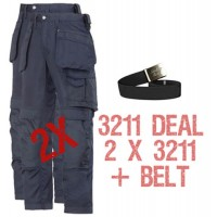 Snickers 2 x CoolTwill Holster Trousers 3211 Kit Including PTD Belt