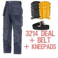 Snickers 3214 Trousers, 9110 Kneepads and PTD Belt Kit