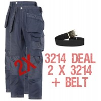 Snickers 3214 Deal 1 2 x 3214 Trousers Plus A Belt