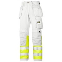 Snickers Workwear 3234 Painter's High-Vis Trousers, Class 1