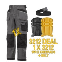 Snickers Workwear 3212 Offer, 1 x Belt & 1 x 9110 Kneepads Kit