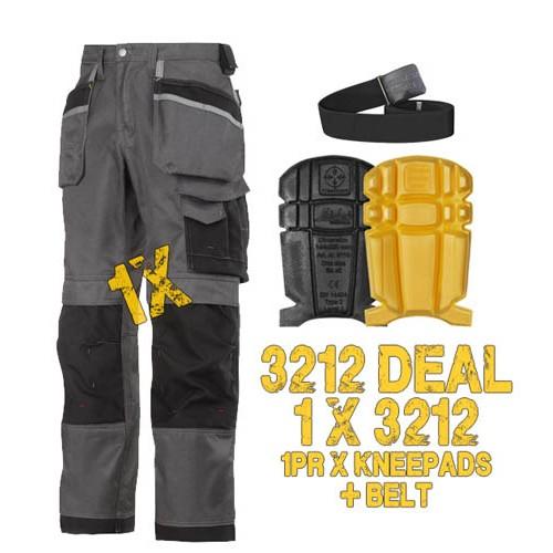 Snickers Workwear 3212 Offer, 1 x Belt & 1 x 9110 Kneepads Kit
