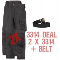 Snickers 3314 Deal 1 2 x 3314 Trousers Plus A Belt