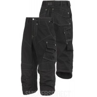 Snickers 3913 Rip-stop Pirate Trousers Black
