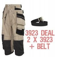 Snickers 2 x 3923 Kit Plus Belt, Rip-stop Pirate Trousers, Snickers Trousers