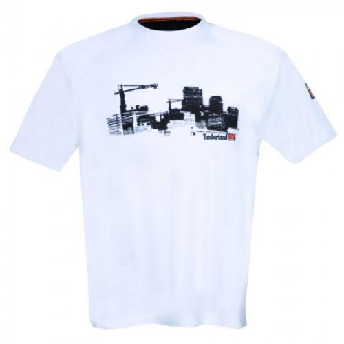 Timberland Pro 322 Short Sleeve Printed T-Shirt White 4262322