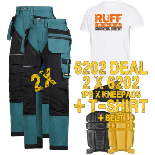 Snickers 6202 Kit1 Ruffwork Holster Pocket Trousers, New Snickers Ruffwork Trouser Kit1