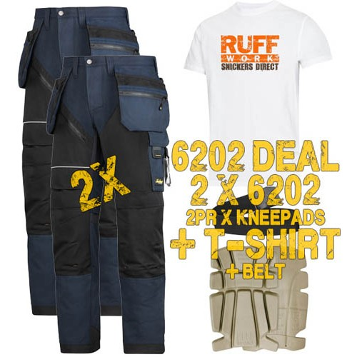 Snickers 6202 Kit3 Ruffwork Holster Pocket Trousers, New Snickers Ruffwork Trouser Kit3
