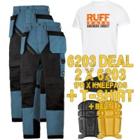 Snickers 6203 Kit1 Ruffwork Holster Pocket Trousers, New Snickers Ruffwork Trouser Kit1