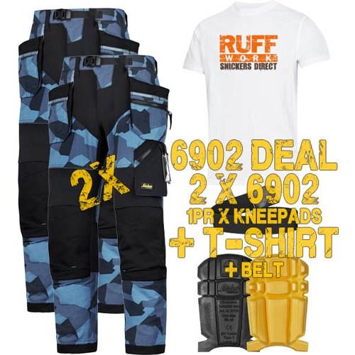 Snickers 6902 Kit1 Flexiwork Ripstop Holster Trousers, New Snickers Flexiwork Ripstop Trouser Kit1