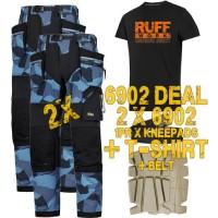 Snickers 6902 Kit2 Flexiwork Ripstop Holster Trousers, New Snickers Flexiwork Ripstop Trouser Kit2