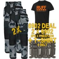 Snickers 6902 Kit3 Flexiwork Ripstop Holster Trousers, New Snickers Flexiwork Ripstop Trouser Kit3