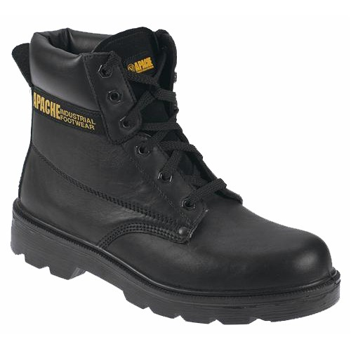 Apache AP300 Black Safety Work Boots With Steel Midsole