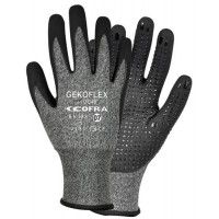 Cofra Gekoflex Grey - Black Nitrile Gloves Water Repellent Back 12pk