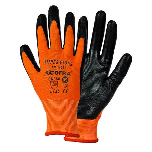 Cofra Impervious Nitril Gloves for Mechanical Protection 12pk