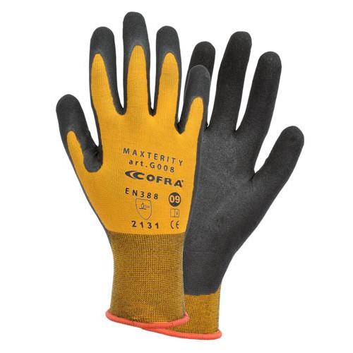 Cofra Maxterity Orange/Black Nitrile Gloves 12 Pack
