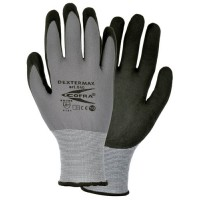 Cofra Dextermax Grey - Black Nitrile Gloves Water Repellent Back