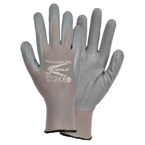 Cofra Handling Grey - Grey Nitrile Gloves for Mechanical Protection