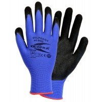 Cofra Oilproof Blue - Black Nitrile Gloves for Mechanical Protection