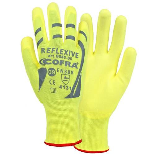 Cofra Hi-Vis Yellow Gloves 12pk