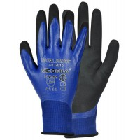 Cofra Total Proof Blue - Black Nitrile Gloves for Work With Oil 12pk