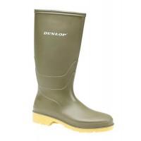Dunlop 16247 Kids & Womens Wellingtons Green Non Safety