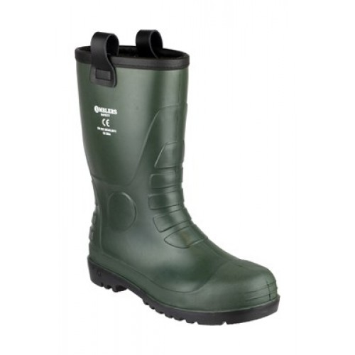 Amblers FS97 Green Safety Rigger Boots Steel Toe Caps