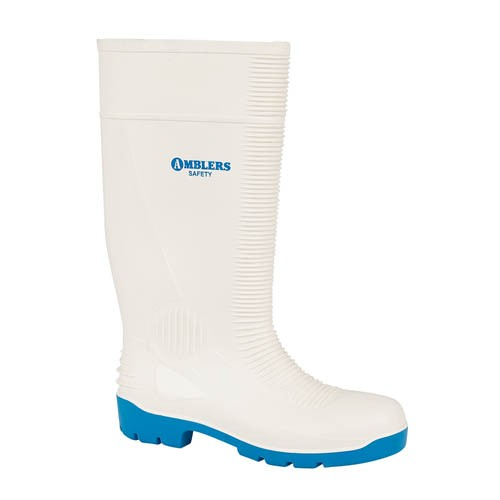Amblers FS98 White Safety Wellingtons