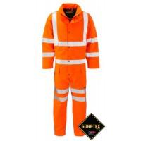 GORE-TEX Coverall 2 Layer Orange Class 3  High Viz