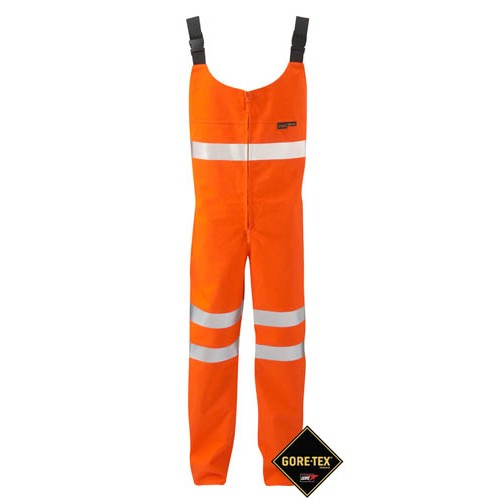 GORE-TEX Salopette 3 Layer Orange Class 2 High Viz