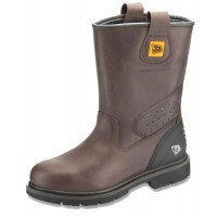 JCB Track Pro Brown  Rigger Boots With Steel Toe Cap & Midsole