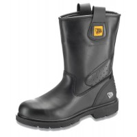 JCB Track Pro Black Rigger Boots With Steel Toe Cap & Midsole