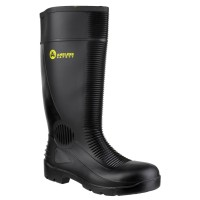 FS100 Waterproof Pull on Ribbed Safety Wellington With Steel Toecap