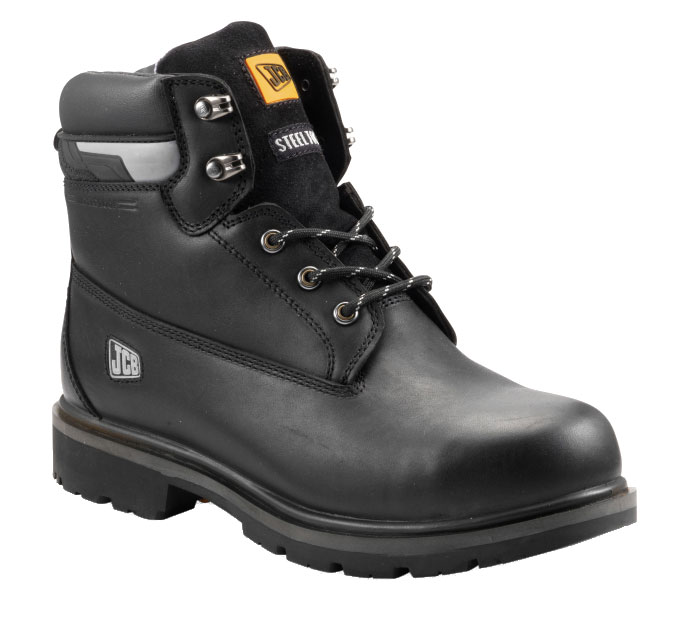 Jcb Protect Safety Boots Black With Steel Toe Caps Midsole