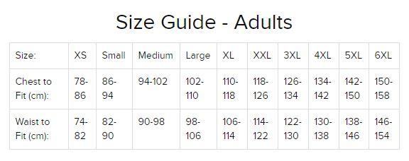 Leo Size Chart